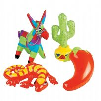 12 Assorted Fiesta Design Inflatables